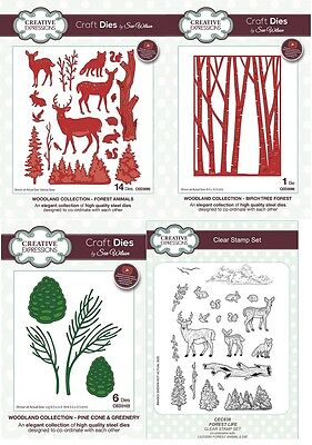 NEW Sue Wilson Craft Dies & Stamps Festive Woodland Collection 2017 Christmas