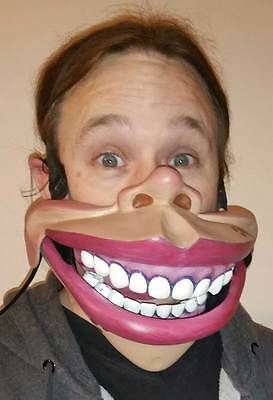 Professional human Ventriloquist Puppet talking mouth half Mask