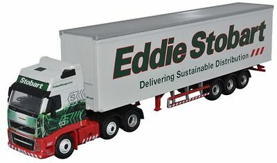 Bnib Oo Gauge Oxford 1:76 Stob017 Eddie Stobart Volvo Fh Box Trailer Lorry