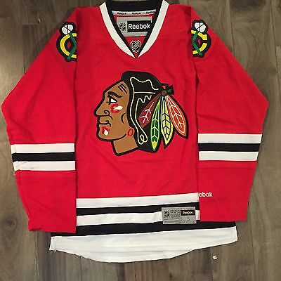 Chicago Blackhawks Premier Reebok Jersey Red Small