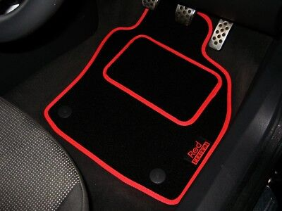 Red Edition Car Mats To Fit Vauxhall Astra H / Mk5 VXR (2004-2010) + Logos