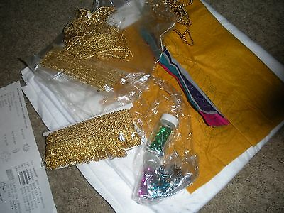 "VINTAGE TREE SKIRT kit by LeeWards needle arts Three wise men 60"" Sealed 1970's"