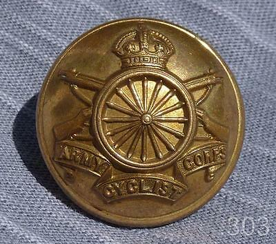 Large 31mm WWI Army Cycling Corps Brass Button, Pitt & Co