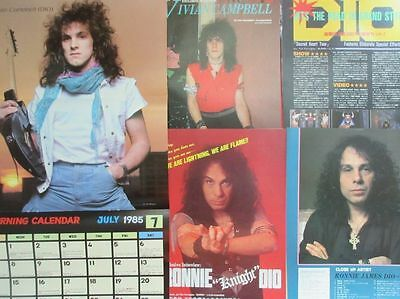 29PAGE RONNIE JAMES DIO Vivian Campbell PIN UP 1985 CLIPPING form 5 BURRN JAPAN