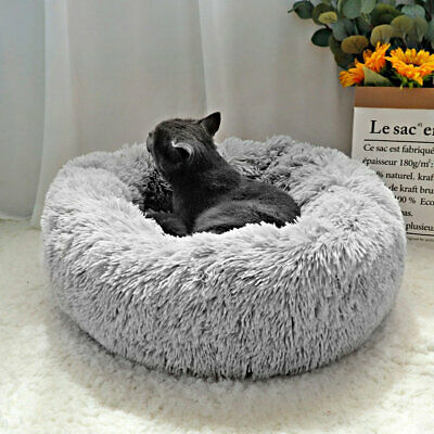 Warm Double Fleece Igloo Pet Bed with Fur Trim For Small Dog/Puppy/Cat/Kitten
