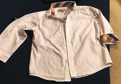 Authentic BURBERRY Baby/Toddler Boy White Shirt 2T