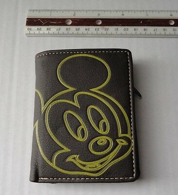 Mickey Mouse brown zippered wallet