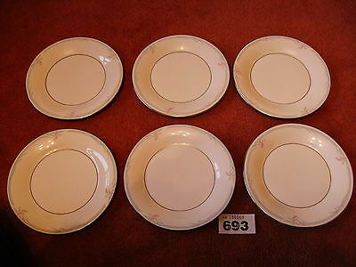 6 ROYAL DOULTON CARNATION TEA PLATES in superb excellent condition