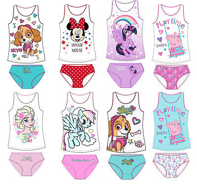 Girls Vest and Pants Briefs Knickers Underwear Cotton
