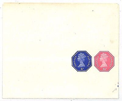 EE235 QV Postal Stationery 3p+2½ {samwells-covers}