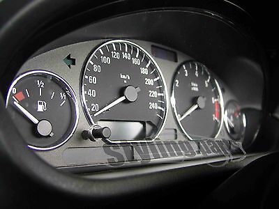 BMW E46 3 SPEEDOMETER Rings in Chrome Only One Clip/Snap In No bonding