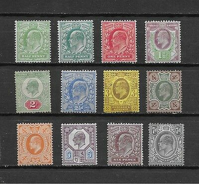 1902/11 GB KEd VII EXCELLENT  MINT SELECTION OF 12 DIFFERENT STAMPS