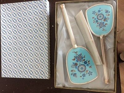 Vintage 1960s mirror/brush/comb dressing table set - boxed