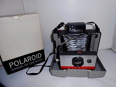 Vintage Polaroid 104 Automatic Land Camera with Carry Case In Original Box