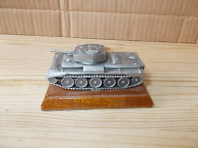 1.76 Scale Pewter Model Of A Crusader Tank -Royal Hampshire Fine Art Sculpture