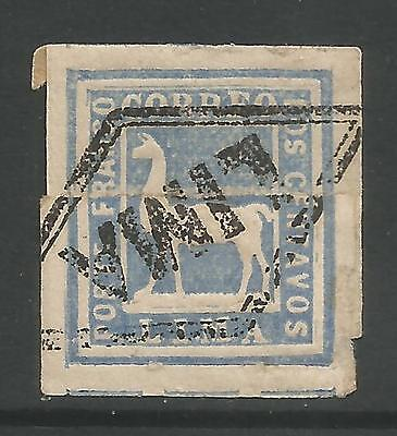 PERU. SG: 23. 1873. 2c Blue Lima Local. Variety Paper Join. Fine Used.