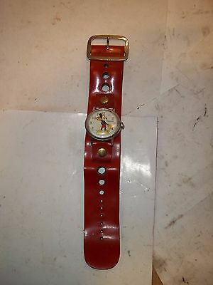 Vintage Ingersoll Mickey Mouse Wrist Watch With Original Band