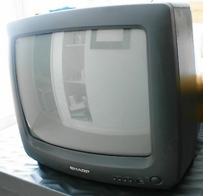 14 inch sharp portable colour television with remote control