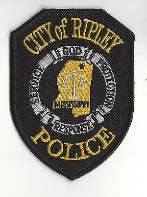 Ripley (Tippah County) MS Mississippi Police Dept. patch - NEW!