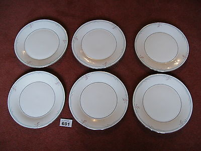 6 ROYAL DOULTON CARNATION DINNER PLATES in superb excellent condition
