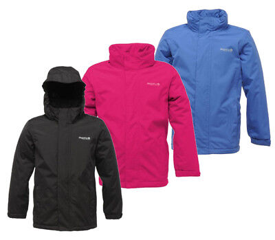 Regatta Westburn Boys Girls Kids Waterproof Windproof Fleece Lined Jacket