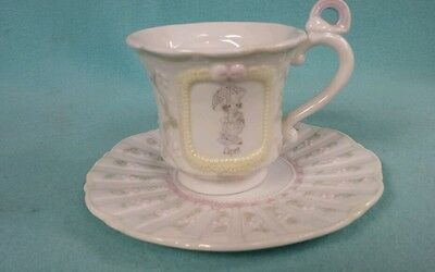 **Precious Moments** Tea Cup & Saucer * APRIL * 1994 Collectible Enesco