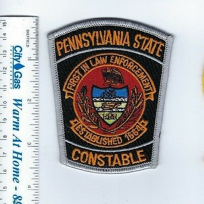 """State of PA Pennsylvania CONSTABLE 3.5"""" patch - NEW!"""