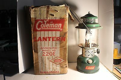 Coleman Usa Urban Land Institute Uli Model 220E Lantern With Box December 1958
