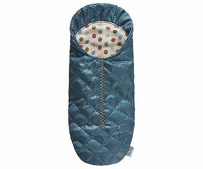 Maileg Happy Camper - Petrol Blue Miniature Quilted Sleeping Bag - Maileg Mice