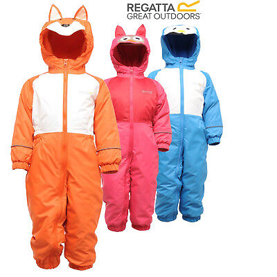 Regatta Mudplay Boys Girls Breathable Lined All-In-One Padded Snow Suit