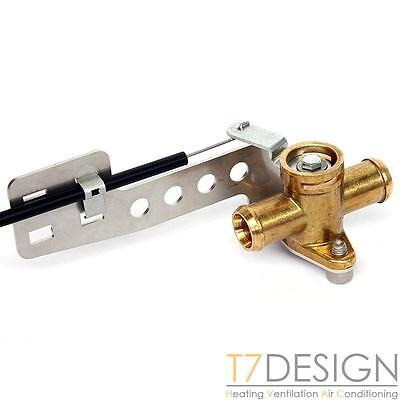 "Brass Heater Valve 16mm (5/8"") Pull to Close Bowden Operated, Kit Race Rally Car"