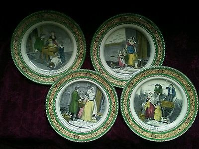 Adams CRIES OF LONDON 10 in. Dinner Plates - Set of 4 - FREE U.S. SHIPPING