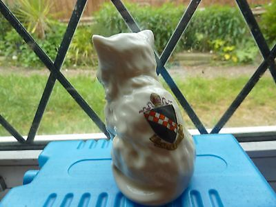Cyclone China 8.5Cm Model Of A Wide Openmouth Cat/kitten With Netley Abbey Crest