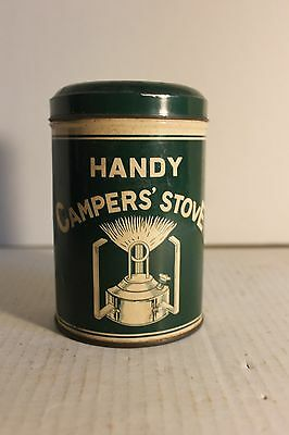 Handy Campers Gasoline Or Coleman Fuel Stove With Litho Tin Complete Japan