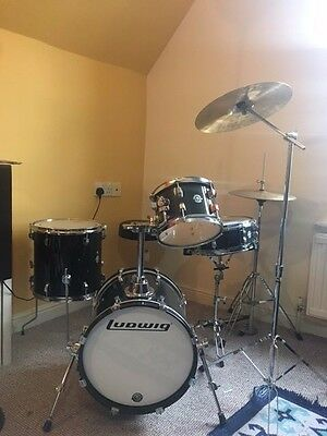 Ludwig Breakbeats Full Drum Kit, cymbals, stool, hardware.