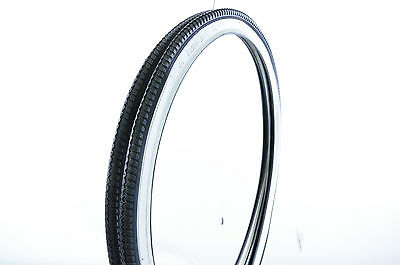 "PAIR 24 x1 3/8"" (37-540) VINTAGE JUNIOR RACING ROAD BIKE TYRES  WHITEWALL IMPAC"