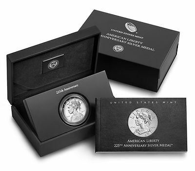2017 P American Liberty Silver Proof Medal in Box w/ COA In Hand