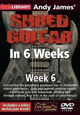 Andy James' Shred Guitar in 6 Weeks Week 6 Lick Library DVD NEW 000393163
