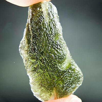 "1.4"" long Moldavite with CERTIFICATE"