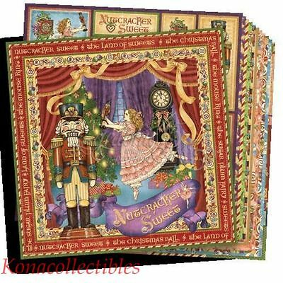 Graphic 45 Nutcracker Sweet 12 x12 Double-sided Paper 12 different Sheets!