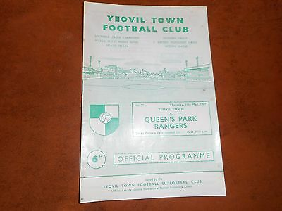 YEOVIL TOWN  v  QUEEN'S PARK RANGERS  1966/7 TERRY FOLEY TESTIMONIAL ~ MAY 11th