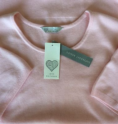 Ladies NEW Baby Pink Soft Feel Jumper Size 20