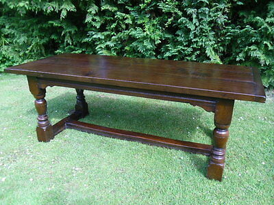 Bylaw Oak Antique Style Refectory Dining Table