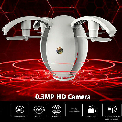 kd130 4ch 6-axis Gyro Mini Dron WIFI 0.3mp HD CÁMARA FPV RC Quadcopter Plegable