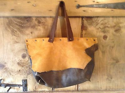 Vintage Leather and Suede Ladies Handbag
