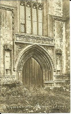 ST. AGNES CHURCH ENTRANCE, CAWSTON, NORFOLK (RP POSTCARD) c1910