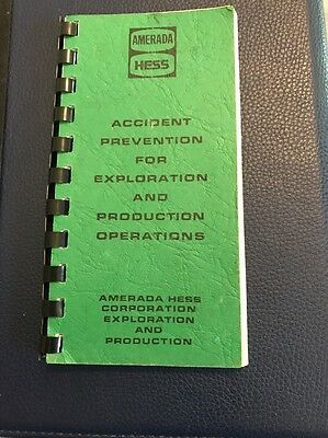 Rare Amerada Hess Accident Prevention Operations Employee Safety Handbook