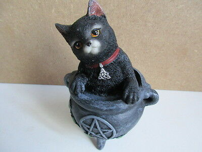 New Smudge Cat Mystic Witches  Cats Of The Coven Boxed  Nemesis Now