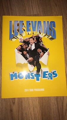 Lee Evans Monsters Tour Programme and singed photo 2014