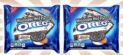 x2 Mississippi Mud Pie Oreo Cookies Chocolate LIMITED EDITION Oreos 10.7 OZ